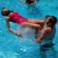 Moments de piscina del Casal d'Estiu 2016