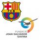 logotipos del Barça y de la Fundación Joan Salvador Gavina